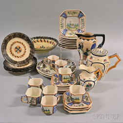 Thirty-five Pieces of Quimper Pottery