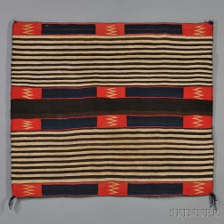 Navajo Late Classic Woman's Chief's Blanket