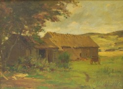 Frederic Porter Vinton (American, 1846-1911)      Barn and Fields.