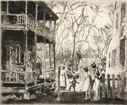 George Hand Wright (American, 1872-1951)      At the Back Porch.