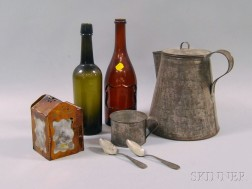 Group of Miscellaneous Metal and Glass Objects
