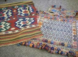 Two Flatweave Oriental Rug Items