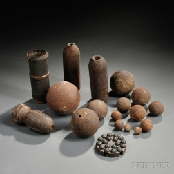 Group of Artillery Projectiles