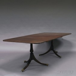 George III-style Mahogany Double-pedestal Dining Table