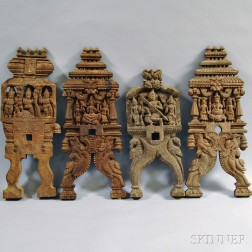 Four Carved Furniture Elements