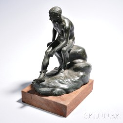 Grand Tour Patinated Bronze Figure of Mercury
