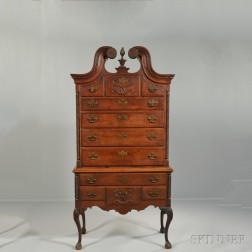 Queen Anne Carved Cherry High Chest