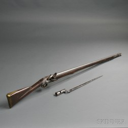 East India Company Flintlock Musket and Bayonet