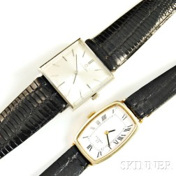 Two 14kt Gold Omega Lady's Wristwatches