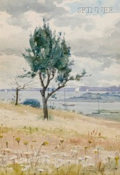 J. Ambrose Prichard (American, 1858-1905)      View to Duxbury Harbor