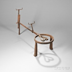 Wrought Iron Frying Pan Stand