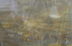 Framed Eames Engraving of the Battle of Gibraltar After James Jefferies