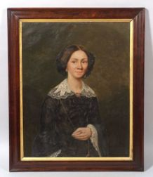 American School, 19th Century    Portrait of Mary McMillan-Gunn.