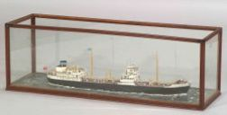 Cased Wooden Model of the Oil Tanker Sheaf Royal Newcastle