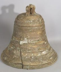 Large Painted and Turned Wooden Liberty Bell