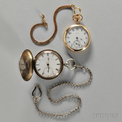Elgin Gold-filled Watch and Home Watch Co. Silver Hunter Case Watch