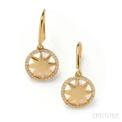 18kt Gold and Diamond Earpendants, Paloma Picasso, Tiffany & Co.