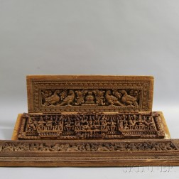 Five Carved Wood Panels