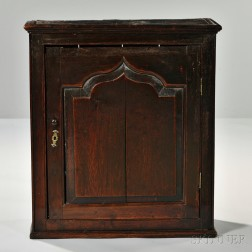 George III Oak Hanging Cabinet