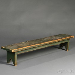 Miniature Green-painted Bench