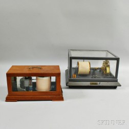 Julien P. Friez Anemometer Recorder and a Barograph