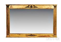 Large Federal-style Gilt Overmantel Mirror