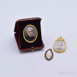 Three Victorian Portrait Miniatures