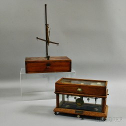 Henry Troemner Pharmacy Scale and Another Scale
