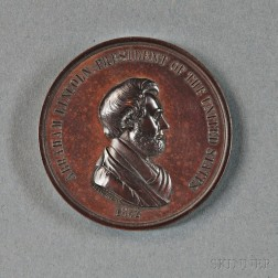 Abraham Lincoln Bronzed Copper Indian Peace Medal