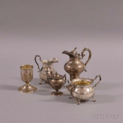 Four Pieces of Sterling Silver Tableware