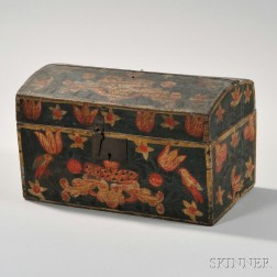 Polychrome Painted Dome-top Box