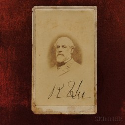 Robert E. Lee Signed Carte-de-visite
