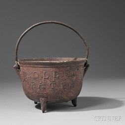 Cast Iron Red-painted Pot