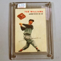 1954 Wilson Franks Ted Williams Baseball Card.     Estimate $600-800