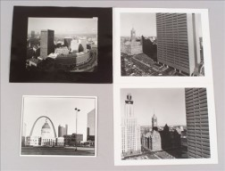 Four Photographs Depicting Cityscapes of County Courthouses