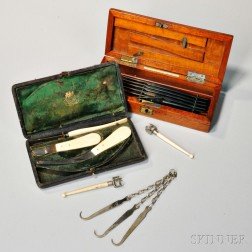 Two Small 19th Century Surgical Sets