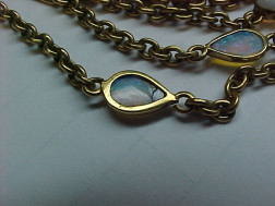14kt Gold and Opal Watch Chain