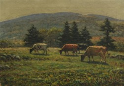 George Arthur Hays (American, 1854-1945)      Sayles Hill Pasture, Woonsocket Hill in Distance
