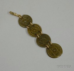Four Moroccan Falus Mounted as a Key Fob