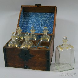 Boxed Set of Six Decanters