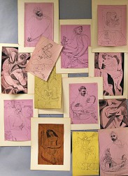 Misha Dolnikoff (American, 1920-2005)      Thirteen Figural Drawings on Theatrical Themes