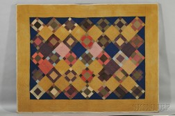 Amish Geometric Pieced Wool Quilt