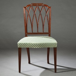 Mahogany Carved Side Chair