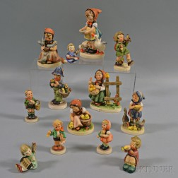 Thirteen Hummel Figures