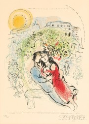 Marc Chagall (Russian/French, 1887-1985)      Le square de Paris