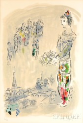 Marc Chagall (Russian/French, 1887-1985)      Le magicien de Paris I