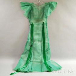 Green Fabric Gown
