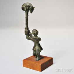 Bronze Figure with a Bear