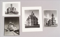 Four Photographs Depicting County Courthouses with Towers