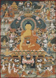 Thangka of Bhaisajyaguru, the Medicine Buddha